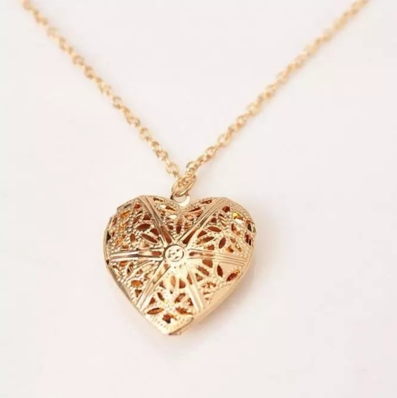 Jewelry hollow gold heart pendant necklace poshmark hollow gold heart pendant necklace aloadofball Choice Image